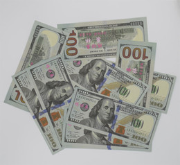 Wholesale Banks Education - High Quality Money banknote USD100 50 20 10 5 for props and Education bank staff training paper fake money copy money children gift