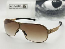металлический ящик памяти Скидка Германия дизайнер мужчины Марка солнцезащитные очки IC m4050 ультра-легкий без винта памяти сплава очки съемный металлический каркас из нержавеющей стали с коробкой