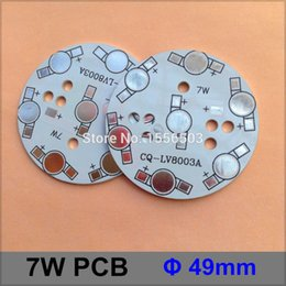 Wholesale Heated Plate Warmer - Wholesale- 20 Pcs lot LED Aluminum heat sink Plate 7W Round 49mm LED High Power PCB Plate Circuit Base For 7W LED Lamp CQ-8003A