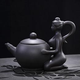 Wholesale Zisha Yixing Teapots - Chinese ancient ladies modeling teapot,Yixing Ceramic Teapot Handmade Porcelain Tea Pot,authentic zisha Violet arenaceous teaset