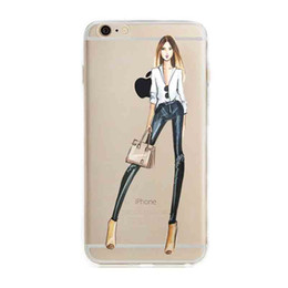 Wholesale Iphone Cases Offers - 2016 Special Offer Direct Selling Fashionable Dress Shopping Girl Cases for Iphone 6 6s Case Transparent Soft Phone Cover