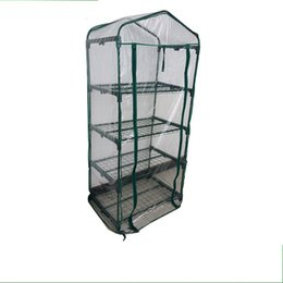 Wholesale Garden Greenhouses - Mini Garden Greenhouses For Home Rot Proof PVC Greenhouse Easily Assembly Eco Friendly Gardens Tents Top Quality 90cl B