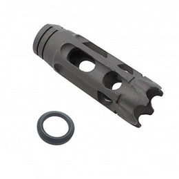 "Wholesale Free Pitch - Tactical 5 8""x24 1 2""x28 Pitch Thread .223 Carbon Steel Shark Muzzle Brake With Free Crush Washer"