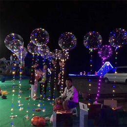 Argentina Luminoso Led transparente 3 metros Globo intermitente Decoraciones de fiesta de bodas Suministros de vacaciones Color Globos luminosos Siempre brillante Suministro