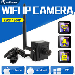 Wholesale Cctv Camera Audio Microphone - Super Mini HD 960p 720P Wireless IP Camera Wifi CCTV Network Cam Microphone Audio SD Card P2P Support Android iPhone p2p view