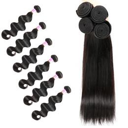 faisceaux de cheveux humains de qualité Promotion 4 5 6 Bundles de cheveux humains vierges tisse de haute qualité des articles à bas prix Santé et beauté Corps Vague et tout droit peut être permanenté