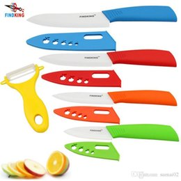 "Wholesale Top Traditional Chinese Gift - D015 Brand top quality Mother's Day Gifts set Zirconia kitchen knife set Ceramic Knife set 3"" 4"" 5"" 6"" inch+ Peeler+Covers"