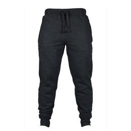 Wholesale Thick Sweatpants - Wholesale-Warm Mens Thick Pants Bodyboulding Hip Hop Clothing Street Trousers Fitness Jogger Sweatpants Men Casual Slim Fit Pants C