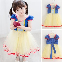 Wholesale Snow White Cartoon Girls - Children Cosplay Dress Snow White Girl Princess Dress Halloween Party Costume Children Clothing Sets Kids Clothes Girls Dresses