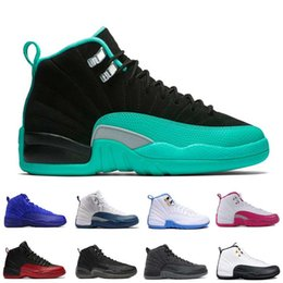 Wholesale Halloween Peach - [With Box]Free shipping Cheap New Arrival High Quality Air Retro 12 French Blue Men Basketball Shoes 12s Sneakers Women Sport Shoes US5.5-13