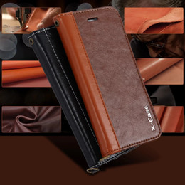 Wholesale Leather Lanyards Wholesale - Newest Splice Leather Case With Card Slot Holder With Lanyard For iPhone 7 7 plus iphone 6 6s plus