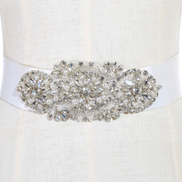 Wholesale Casual Dresses For Cheap - Fashionable Bridal Sashes and Belts Wedding Dress Sash for Wedding Beaded Rhinestone Crystal Wedding Belt Cheap CPA783