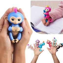 Wholesale Baby Toy For Sales - Pre-sale 6 colors Fingerlings 130mm Interactive Baby Monkey Finger Toys Monkey Electronic Smart Touch Fingers Monkey Cartoon Gift for Kids