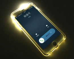 Wholesale Cheap Iphone Clear Case - Cheap TPU+PC LED Flash Light Up Case Remind Incoming Call Cover for iPhone 7 SE 6 6S Plus Samsung S7 S6 Edge Note 5 Clear Transparent Skin