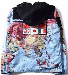 Wholesale Purple Map - Men Military Map Jacket Reflective jackets coats Male fashion Windbreaker Coat Hooded embroidery outerwear Flag Style Hip Hop Coats