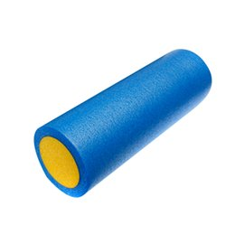 Wholesale Wholesale Pilates Roller - Wholesale-GRID FOAM MASSAGE ROLLER 45cm FITNESS REHAB INJURY PILATES YOGA EXERCISE -Blue & Yellow