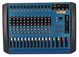 Wholesale audio power mixer - Wholesale- Free Shipping!! 700 Watt RMS PM12 Professional Power Audio DJ Mixer 12 Channel Mixing Console Mezcladora De DJ