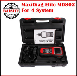 Wholesale Engine Airbag Abs - Free DHL original Autel MD802 MaxiDiag Elite Scan Tool autel 802 4 system engine transmission ABS & Airbag 4 System Diagnostic Tool