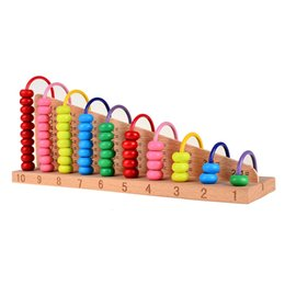 Wholesale Wood Beads Abacus Counting - Wholesale- BOHS Beech Wood Abacus Bead Counting Frame 1 + 1 Calculation Arithmetical Frame Rack Abaci Calculatorb Math Toys