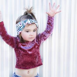 Wholesale Velvet Fashion Blouse - Everweekend Girls Velvet Soft Autumn Baby Blouse Vintage Korea Sweet Fashion Toddler Clothing Lovely Children Shirt