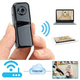 Wholesale Ip Video Phones - Mini Portable P2P WiFi IP Camera Indoor and Outdoor Video Recorder DV Action Camcorder for Mobile Phone Remote View