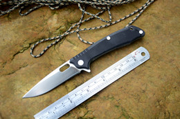 Wholesale Pocket Knife Folding Stainless - Free shipping knife Y-start new flipper T03F folding knife D2 satin blade G10 handle outdoor knives camping hunting pocket knife EDC tools