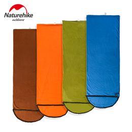 Wholesale Envelope Nh - Wholesale- Naturehike Spring summer fleece sleeping bags portable Ultralight Outdoor Camping NH hiking Envelope Sleeping Bag 215*76cm