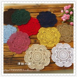 Wholesale 16 Vases - Wholesale-Free shipping ZAKKA design 2016 new arrival 20pic lot 16 colors lace mat fabric doilies as novelty house hold for cup pad vase