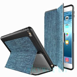Wholesale Tablet Inch Back Skin - ipad mini4 air2 2 3 4 6 mini Nice Cloth Canvas case shockproof Front Smart cover+ back case 7.9 inch tablet air