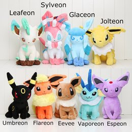 Brinquedo de pelúcia glaceon on-line-Pikachu Plush brinquedos 30 centímetros sylveon Glaceon Leafeon Jolteon Umbreon Flareon Eevee Espeon Vaporeon com tag Kid