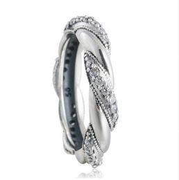 Wholesale Pandora Ribbon - RIBBON OF LOVE RING for women Pandora Style S925 Sterling Silver Free Shipping Rip105H9