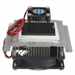Wholesale Peltier Thermoelectric Cooling - Wholesale- 12V TEC1-12706 System Heatsink Kit Thermoelectric Peltier Refrigeration Cooling Cooler Fan Radiator Peltier for Computer