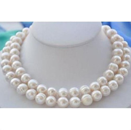 "Wholesale Natural Baroque Pendant - 35"" 12-13mm South sea Natural white baroque pearl necklace 14k yellow gold clasp"
