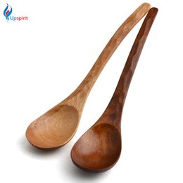 Wholesale Hand Carve Wood - Wholesale- New Arrival 2Colors Wooden Spoon WithTurtle Shells' Grain Hand-made Carved Spoon Kitchen Tool Tableware Tool With High Quality