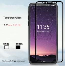 pantalla de carbono iphone Rebajas Para iphone 8 9H protectores de pantalla de vidrio templado fibra de carbono de borde suave frente completo pegatinas de protección para iphone x 6 6s 7 plus 8 iphonex
