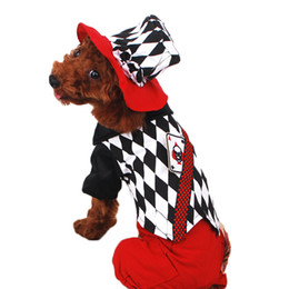 Wholesale Dogs Xmas - Dog Costume Novelty Fashion Halloween Party Costume for Dog Cosplay Suit for Pet Poodles Clothing XMAS Gifts