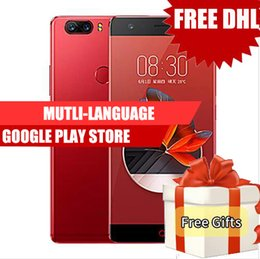 Wholesale Cdma Phone Zte - Dhl Free ZTE Nubia Z17 ZTE Cell Phones Qualcomm Snapdragon 835 Octa Core 6GB 64GB 4G LTE Touch ID Android 7.1 23.0MP Smartphone Vs zte axon