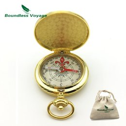 Wholesale Glow Military - Boundless Voyage Pocket Outdoor Camping Survival Compass Glow in the Dark Military Compass Multifunction Metal Compass BVC01
