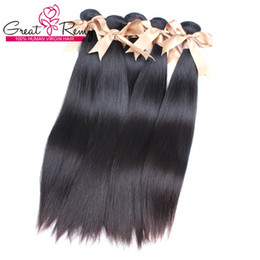 Wholesale Cheap 5a Brazilian Hair - 10 Bundles 5A Brazilian Hair Extension Cheap Straight Human Hair Weave Great Remy Factory Outlet Special for Black Women