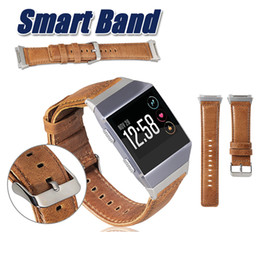 Wholesale Men Watch Strap Bracelet Leather - For Fitbit Ionic Band Adjustable Leather Band Bracelet Replacement Wrist Watch Band Straps For Fitbit Ionic Fitness Watch Women Men