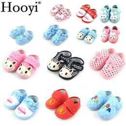 Wholesale Newborn Winter Boots - Hooyi Cotton Bear Baby Boy First Walkers Newborn Shoes Anti-Slip Animal Bebe Girls Moccasin Infant Boots 0-2Years Babies Socks