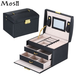 organizzatori all'ingrosso di trucco Sconti Wholesale- Travel Makeup Organizer Bag Case Cosmetici Jewelry Organizer Box Toilette Make Up Gift Box Caso di cosmetici per gioielli
