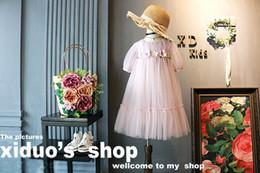 Wholesale Bohemian Dress Silk Chiffon - Children Clothes Wholesale 2017 lace Flower Girls Dresses Fashion Princess Dresses Girls Party Dresses Chiffon Dress Kids Clothing A643
