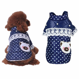 Wholesale Warm Dog Clothes Xxl - Small Dog Clothes Jacket Warm Plaid Winter Dog Coats Pet Clothes Elastic Small to Large Dog Clothes S-XXL Coat
