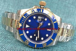 Wholesale Two Tone Luxury Watches - Luxury quality Sapphire blue Ceramic Bezel Dial 116613 Stainless Steel Automatic Mens Men's Watch Watches two tone Gold Original Box Papers