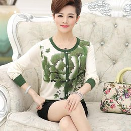 Wholesale Woman S Sweaters Cheap - Wholesale-New 2016 Pullovers middle - aged women's fall and winter cheap&good clothes cashmere sweater knitted sweaters Plus Size S-XXXL