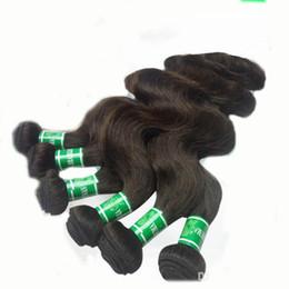 Wholesale Dark Brown Brazilian Extensions - Brazilian Body Wave 100% Human Hair Extensions 12-30inch Mixed Length 6pcs lot Dark Brown Hair Weave