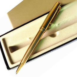 Wholesale Mm Notes - Free Shipping Parker Sonnet Top Quality Ballpoint Pen Office School Suppliers Stationery Metal Gold Silver Pen Refill 0.7 mm Pens of Writing