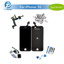 Wholesale Full Color Display - Full Assembly Set For Color Black White iPhone 5S 5G 5C Brand New LCD Display Touch Screen Digitizer +Repair Tools + Free Shipping