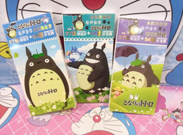 Wholesale Papers For Greeting Cards - 27 Piece Box My Neighbor Totoro Postcards Paper Cartoon Greeting Gift Cards with 54pcs Poker Playing Cards for Birthday&Party 3Boxes Set